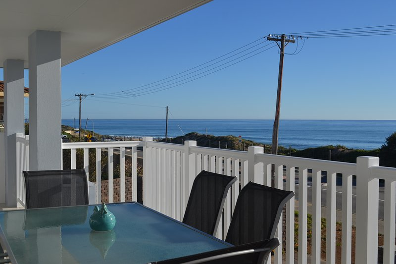 Balcony entertaining/ sitting area enjoying the uninterrupted views of Blue Bay Beach