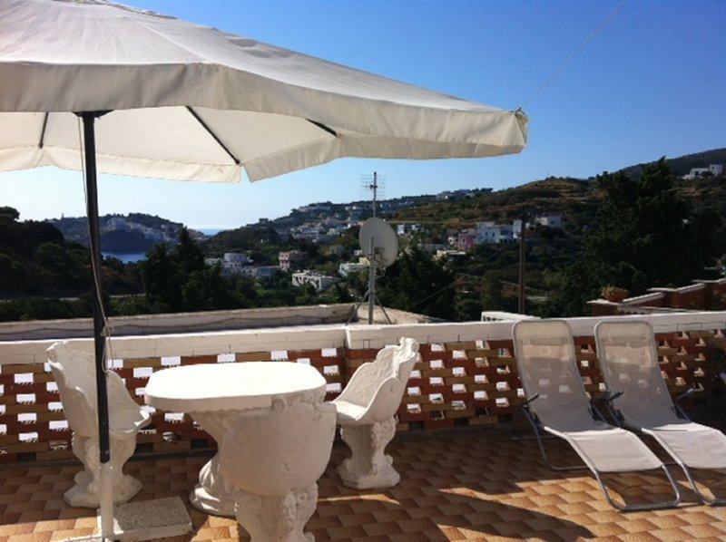 terrasse privée avec vue sur la mer