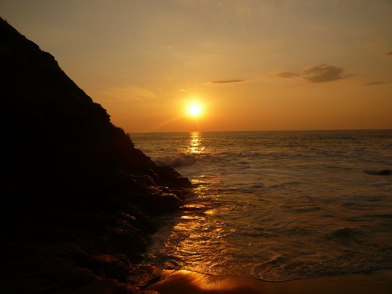 Coucher de soleil à Punta Cometa