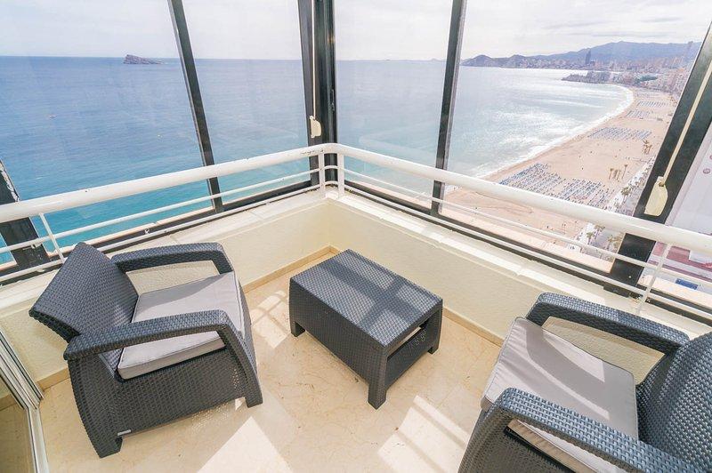 glass and sea views