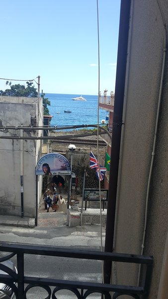 Sea view from the living room, spiaggio under the house.