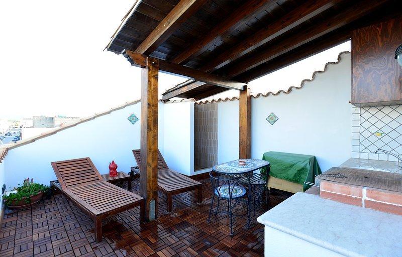Casa Sole - Terraza Solarium San Vito Lo Capo 30 metros de la playa