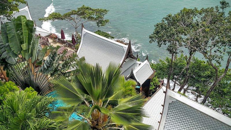 Thai Bali Oceanfront villa, North of Kamala Beah., holiday rental in Kamala