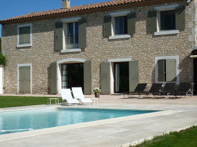 A part of our very nice traditional Mas, with heated swimming pool facing beautifull Alpilles view