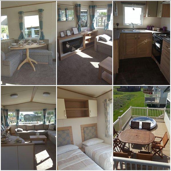 Brand new 8 berth caravan with hot tub