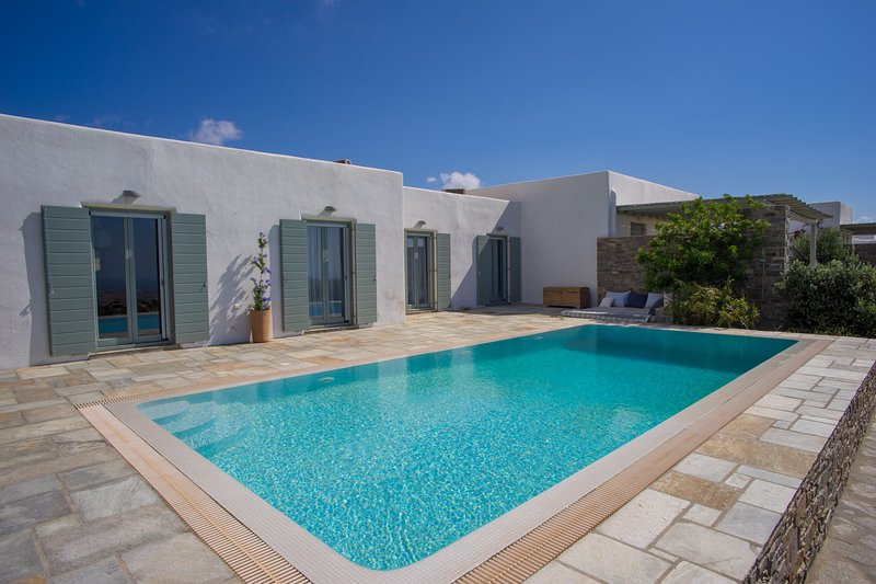 Top hill Villa Joy with private pool, close to Naoussa, vacation rental in Lefkes