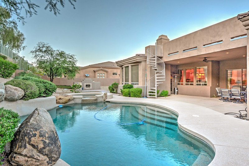 Experience the Grand Canyon State in all of its glory when you stay at this luxurious Fountain Hills vacation rental house!