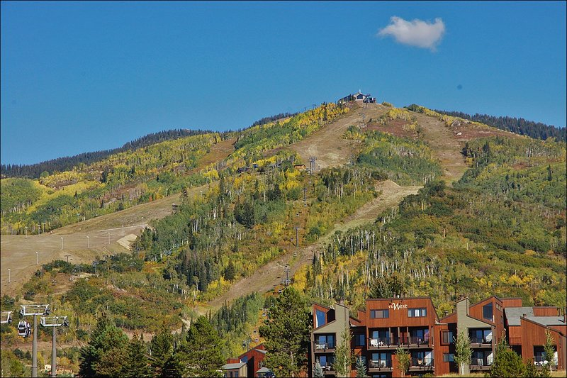 Steamboat Ski Resort as seen from the condo