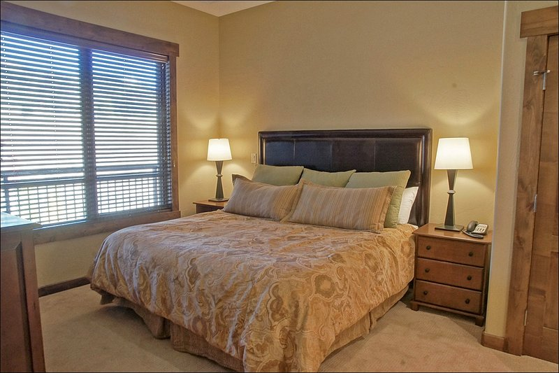 Amply sized Master Bedroom with King Bed