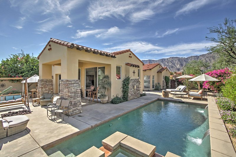 With a spacious patio featuring spectacular mountain views from a lovely private pool, this home promises a rejuvenating retreat!