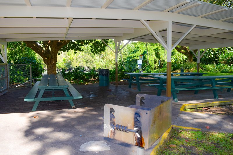 Carlsmith Park has covered picnic pavilions and charcoal BBQs