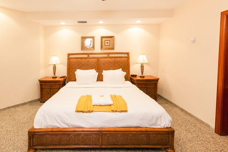 2e slaapkamer met een kingsize bed