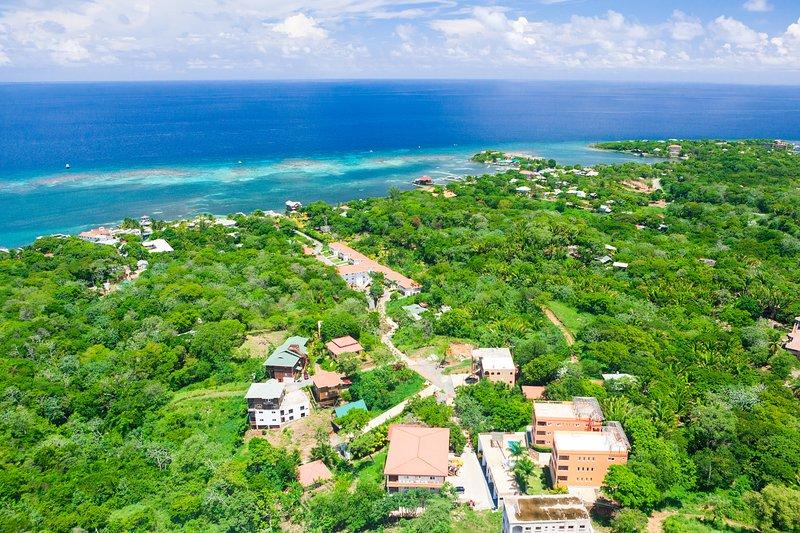 Aerial view of Casa Feliz