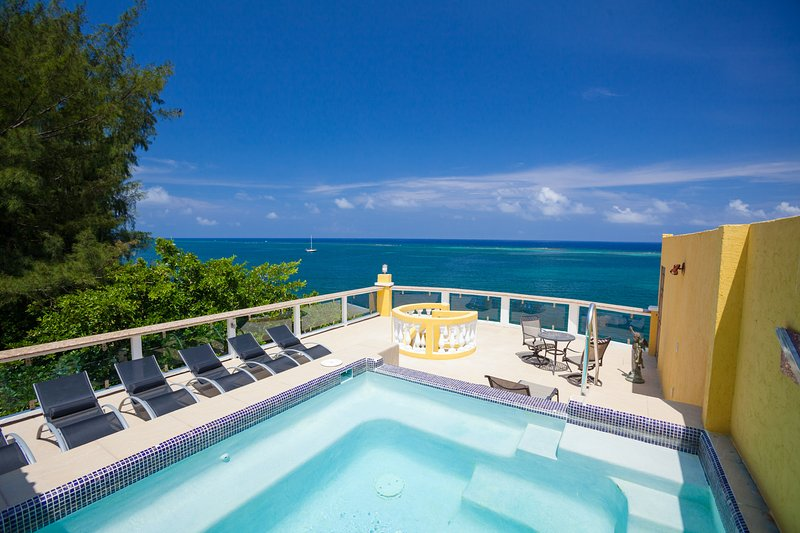 Private sky deck and plunge pool with ocean view