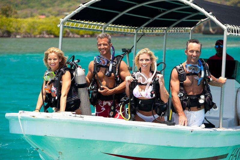 Haga un viaje de buceo o snorkel
