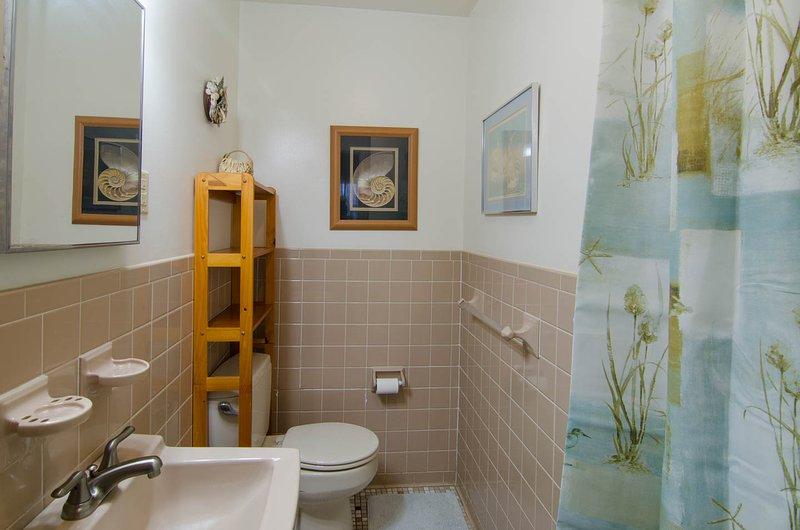 Bathroom w/shower bedroom 1