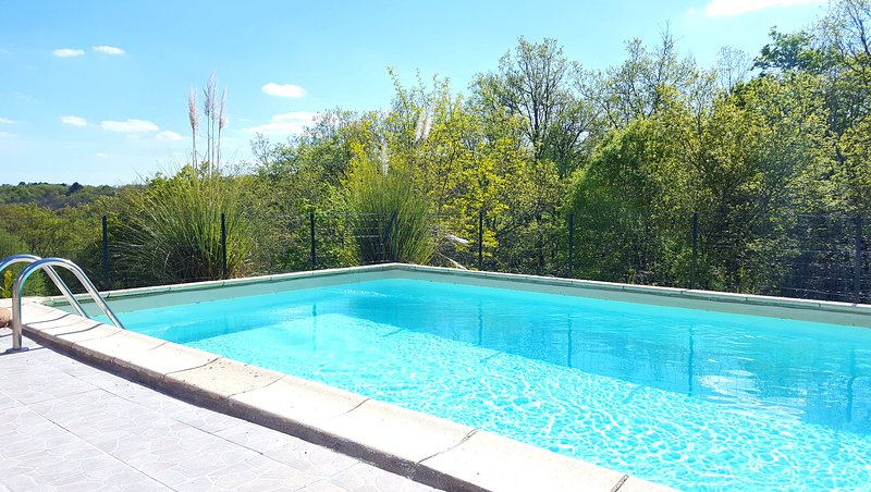 Domaine La Roseraie - La Truffière : Private swimming pool (8-4 m) with lovely panoramic views
