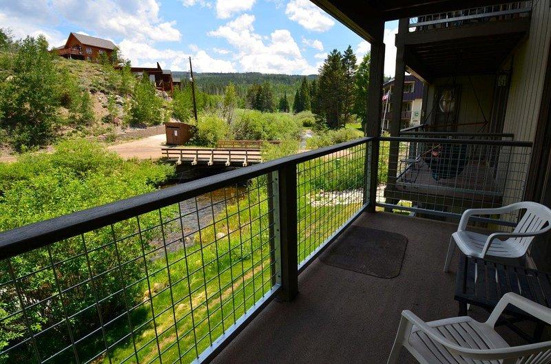 Private deck overlooking Fraser River