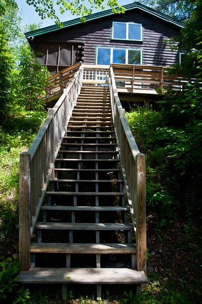 Steps from deck
