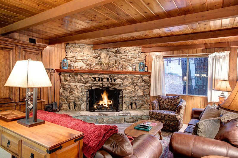 Living Room with fireplace (wood provided in season)