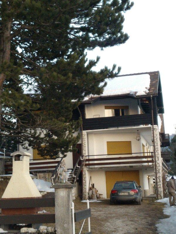 De villa met tuin en barbecue IN DE WINTER