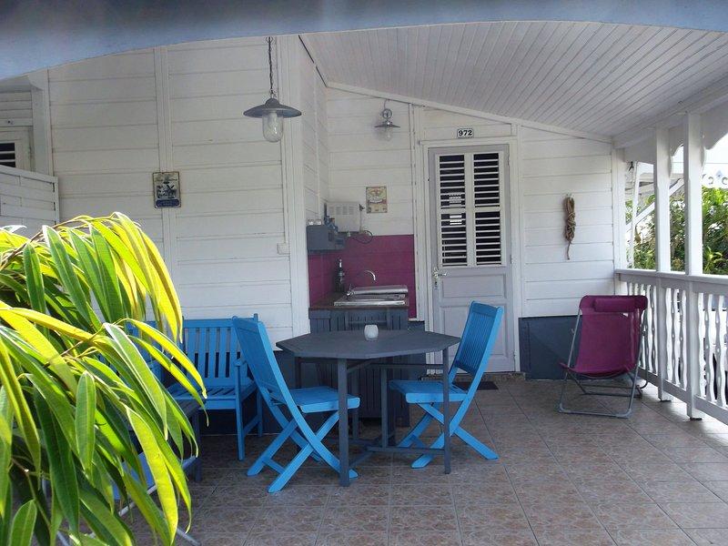 cocina en la terraza