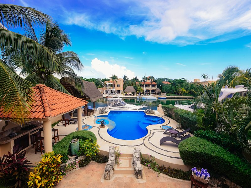 Riviera Maya Haciendas, Villa Marinera - Villa Waterfront, Swimming Pool, Terrace & Chaise Lounge