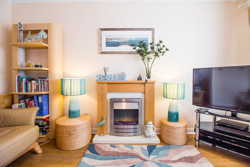 The Beach House sitting room offers a quiet space in which to reflect, recharge and relax.