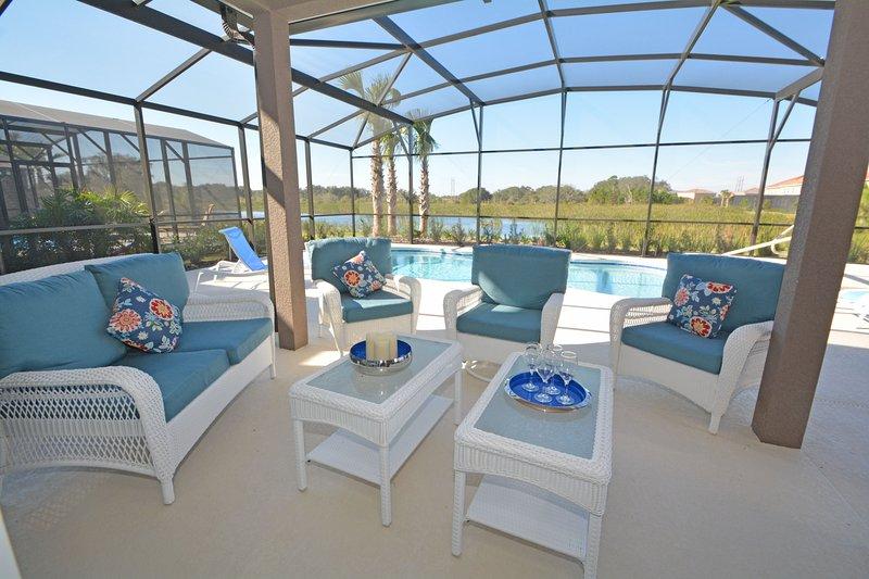 Schöne und komfortable Terrasse