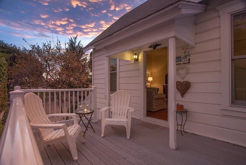 Enjoy the evening sunset on the front porch