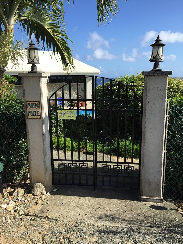 Entry Gate from Private Parking Area