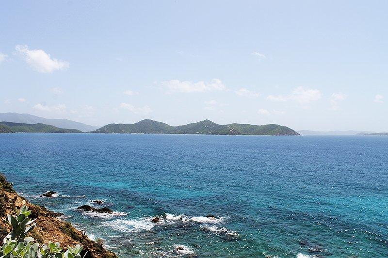 View of the Caribbean Sea towards the British Virgin Islands