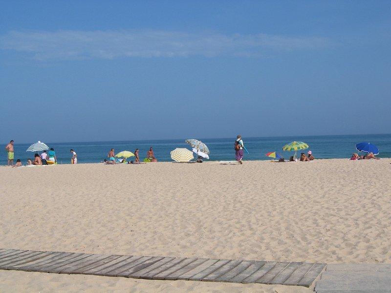 playa de la isla de Tavira, a 20 km.
