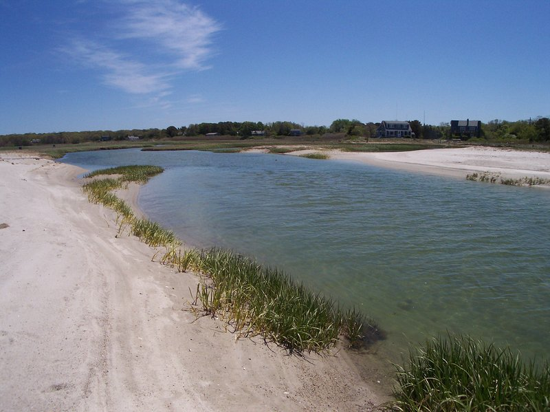 Namskaket Creek is a tidal river, where older kids love tubing down the river, going with the tidal flow!
