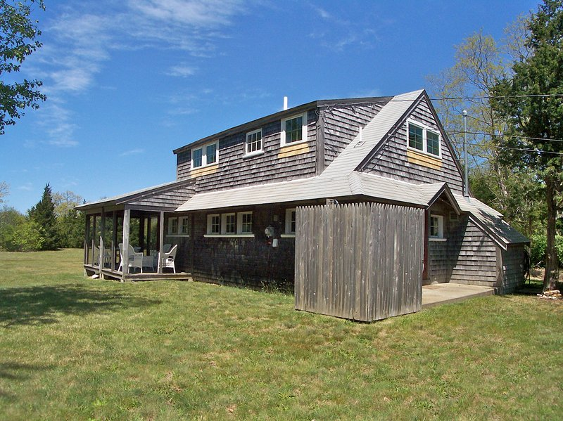 The cottage is not new, but the owners maintain it meticulously. For example, note the new windows