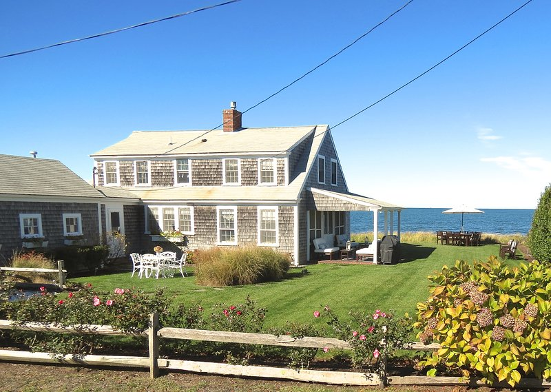A uniquely upscale cottage experience directly on the beach in Brewster.