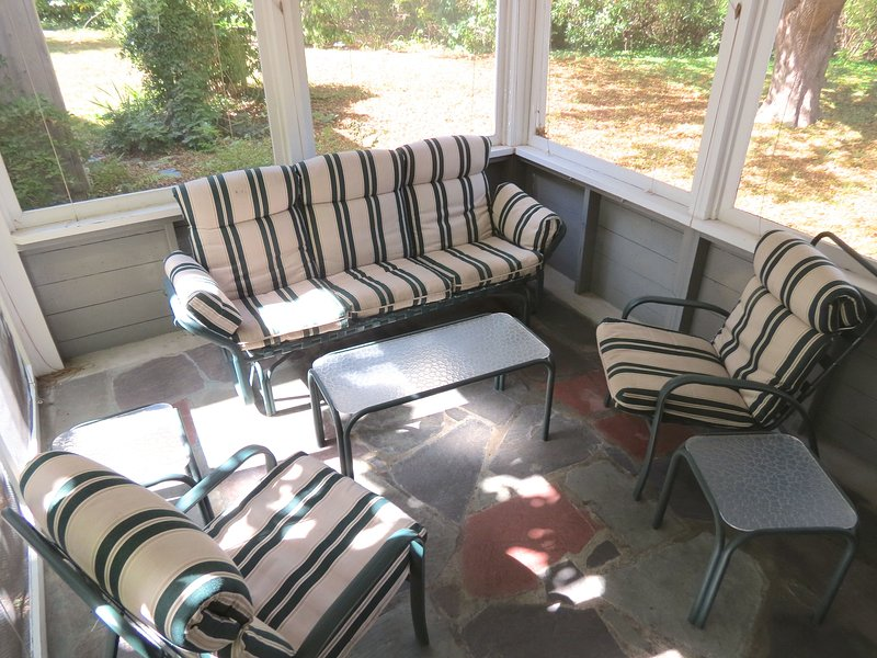 You'll enjoy the private, shaded screened porch.