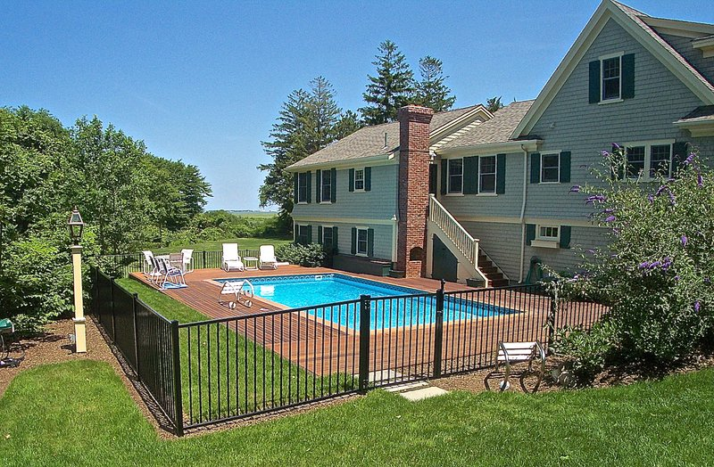 Stunning exterior and interior design along with an in ground pool make this a luxurious way to enjoy the mid-Cape.