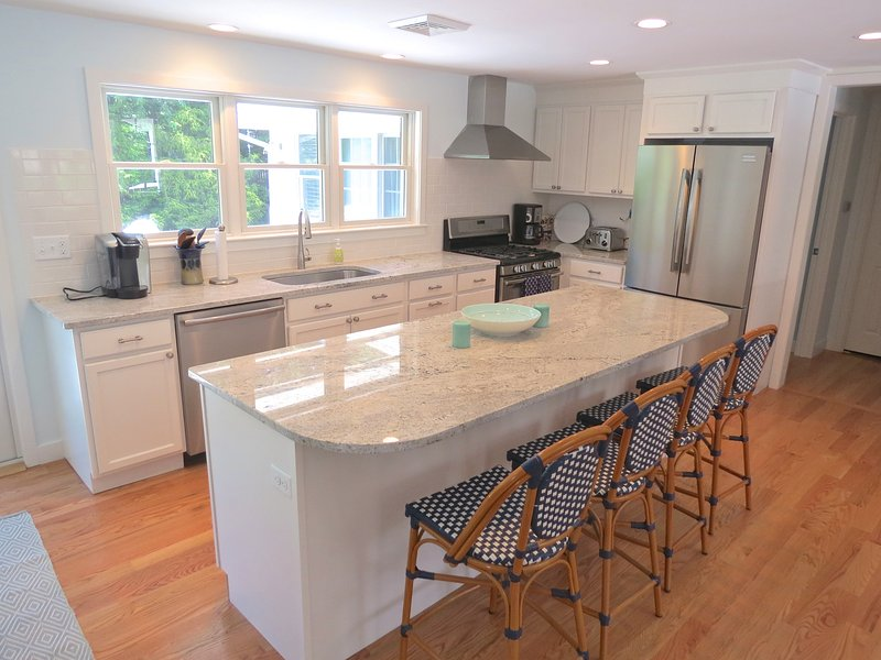 Granite counters and high end appliances.