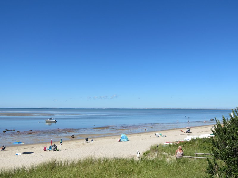 Private beach on Cape Cod Bay just a 3 minute walk away