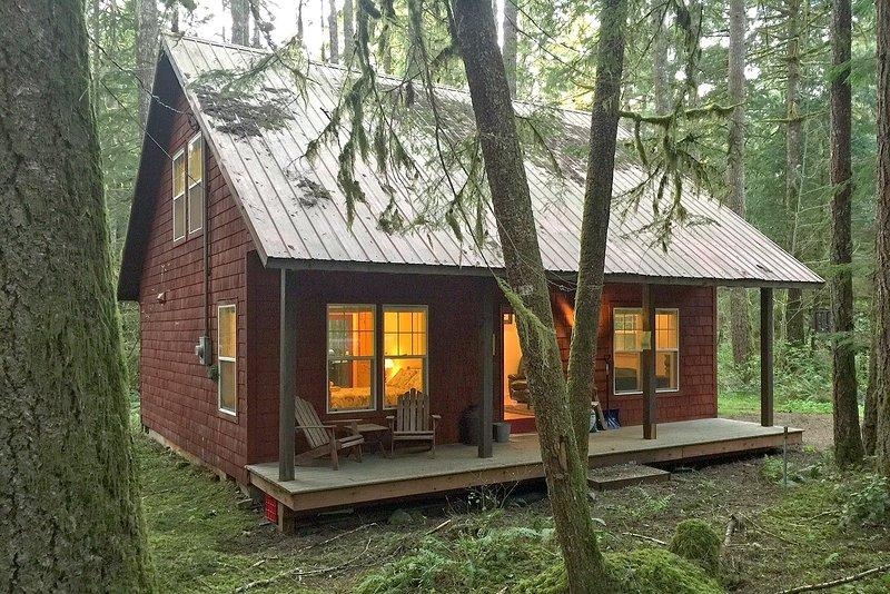 Glacier Springs Family Cabin #12- AIR CONDITIONING, FIREPLACE, WIFI*, BBQ, SLP-4, alquiler vacacional en Glacier