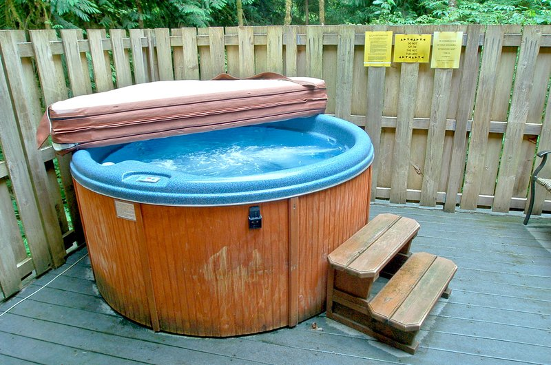 Time to relax in your private hot tub
