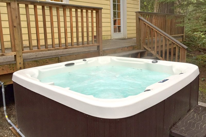 Relax after a lond day in the hottub