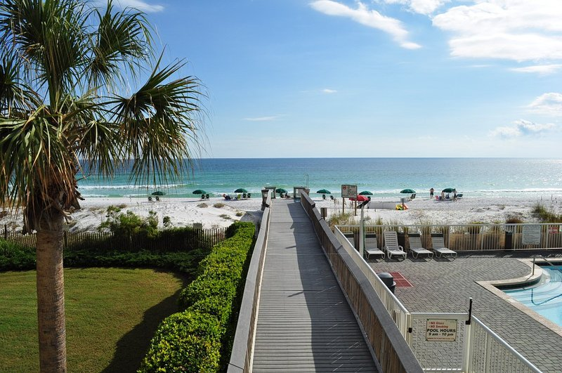 Balcon - Waters Edge Resort 215, plage de Fort Walton, île d'Okaloosa