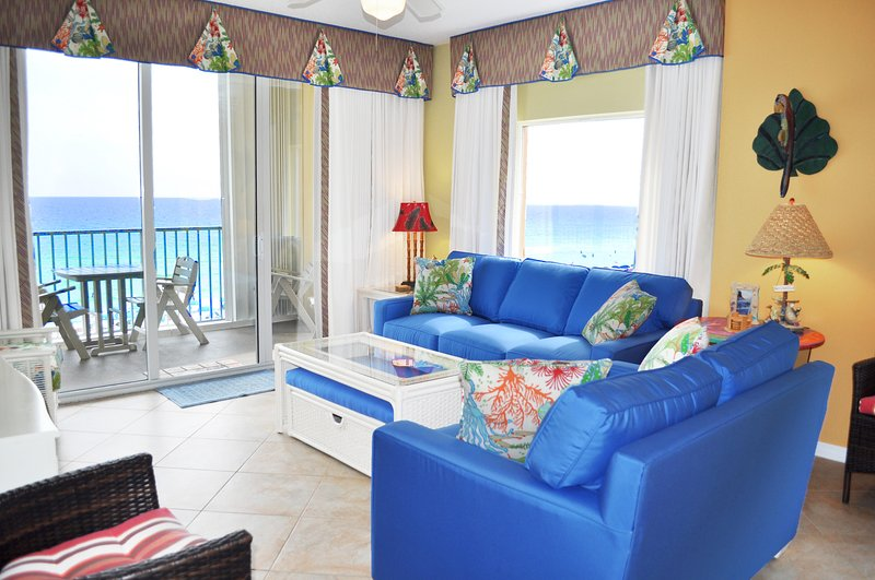 Living Room Gulf Dunes 517 Fort Walton Beach Isola di Okaloosa Case per le vacanze