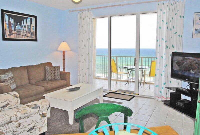 Living Room Gulf Dunes 607 Fort Walton Beach Okaloosa Island Vacation Rentals