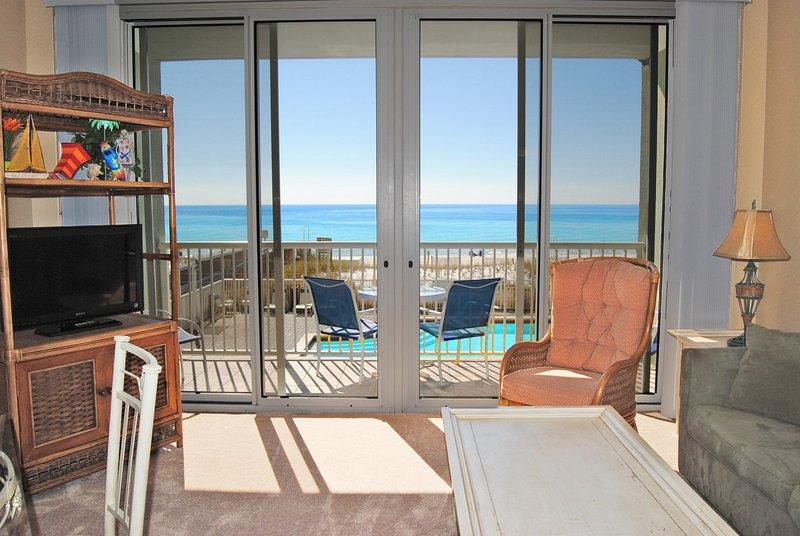 Living Room Waters Edge Resort Unit 213 Fort Walton Beach Florida Okaloosa Island Vacation Rentals
