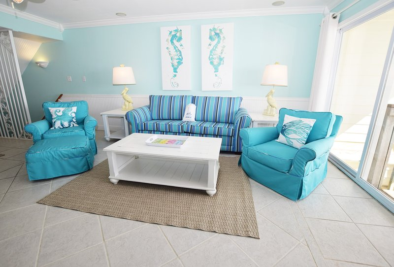 2nd Floor Living Room, Sandollar Townhomes Unit 12 Miramar Beach House Destin Florida Vacation Rentals