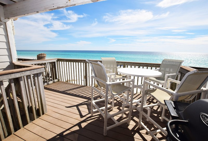 Main Floor Deck Sandollar Townhomes Unit 12 Miramar Beach House Destin Case per le vacanze