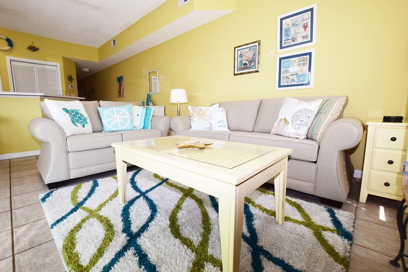 Living Room Sandpiper Cove Resort 9106 Holiday Isle Destin Florida Vacation Rentals